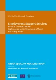 Measure 15 Employment Support Services - Equality Authority