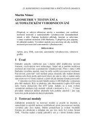 Využití geometrie v aplikacích určených pro testování a automatické ...