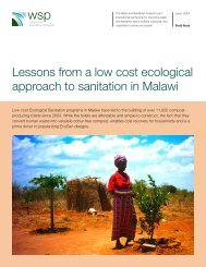 Lessons from a low cost ecological approach to sanitation ... - SSWM