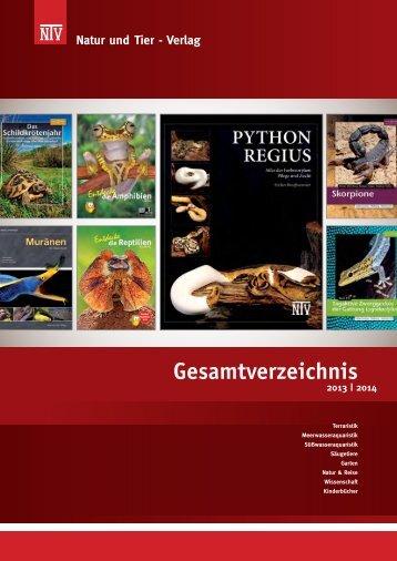 Gesamtverzeichnis 2013 - Natur und Tier - Verlag GmbH