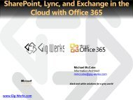 Office 365 Plan M Customer Pitch Deck - Gig Werks