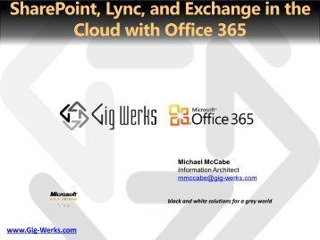 Office 365 Plan M Customer Pitch Deck - Gig Werks