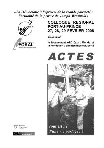 Haiti ProjetACTES1.qxd - Joseph Wresinski