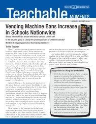 Vending Machine Bans Increase in Schools ... - Walch Education