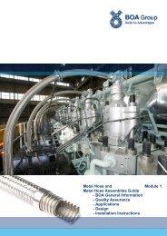 Metal Hose Guide Mod.1 General, Design, Inst.Instruction - BOA Group