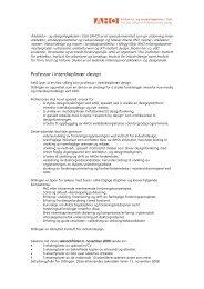 Les hele utlysningen. - Arkitektur- og designhøgskolen i Oslo