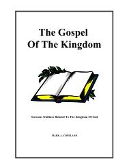 The Gospel Of The Kingdom - Executable Outlines