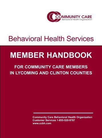 Lycoming Clinton Member Handbook Cover - Community Care ...