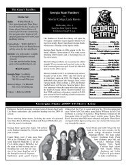 georgia state exhibition opener game notes