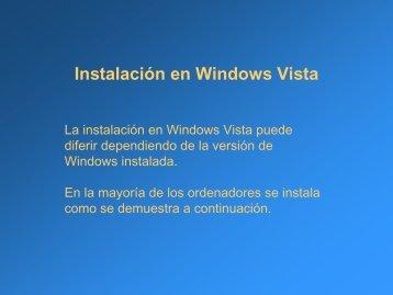 Instalación en Windows Vista - CLAP