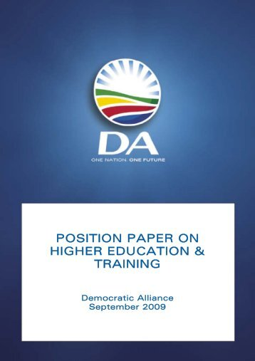 POSITION PAPER ON HIGHER EDUCATION.pdf - Democratic ...