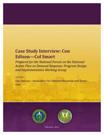 Case Study Interview: Con Edison—Col Smart - Electricity Market ...
