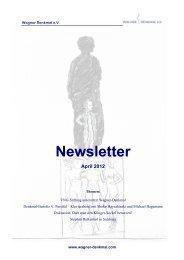 Newsletter April 2012 - Wagner Denkmal