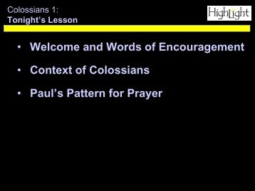 Pattern of Prayer - Watermark Community Church