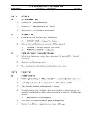 DTW Works Master Specification Version 2006 Section 16135 ...