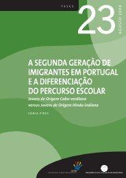 A SEGUNDA GERAÇÃO DE IMIGRANTES EM PORTUGAL EA ...