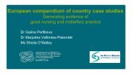 Dr G Perfilieva Dr M Vallimies S O'Malley - Department of Health ...