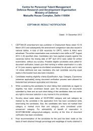 Full List of Shortlisted Candidates as Available on CEPTAM ... - DRDO