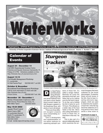 Sturgeon Trackers - School of Forest Resources & Conservation ...