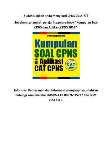 SOAL CPNS BPS 2010 EPUB DOWNLOAD