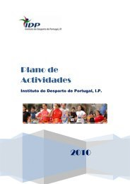 2010 Plano de Actividades - Instituto do Desporto de Portugal