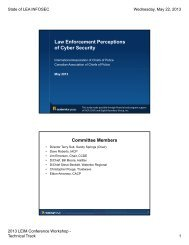 Law Enforcement Perceptions of Cyber Security - International ...