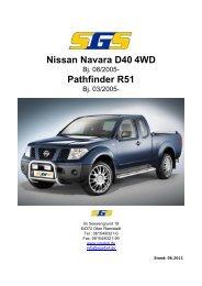 Nissan Navara D40 4WD Pathfinder R51 - SGS