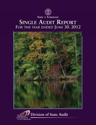 2012 Single Audit Report - Tennessee Comptroller of the Treasury