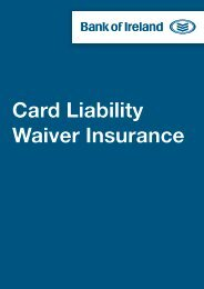 Card Liability Waiver Insurance - Business Banking - Bank of Ireland