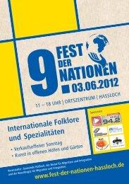 Internationale Folklore und Spezialitäten - Gemeinde Haßloch