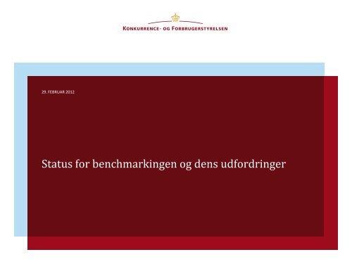 Status for benchmarkingen og dens udfordringer - Vand i Byer