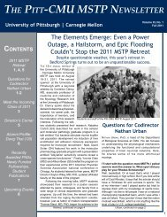 Download Fall 2011 Newsletter - University of Pittsburgh :: MSTP
