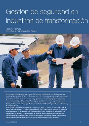 Gestión de seguridad en industrias de transformación