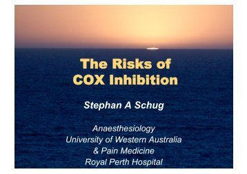 The Risks of COX Inhibition - Faculty of pain medicine