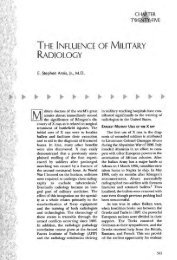 The Influence of Military Radiology - American Roentgen Ray Society