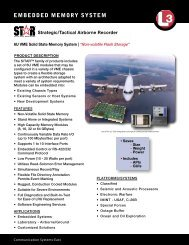 EMBEDDED MEMORY SYSTEM - L-3 Communications