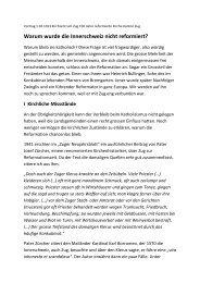 Warum wurde die Innerschweiz nicht reformiert? - Josef Lang