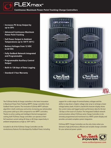 Download The FLEXmax 60 (FM60) - DC Battery Specialists