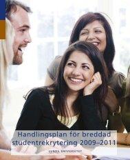 Handlingsplan för breddad studentrekrytering ... - Lunds universitet