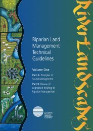 Riparian Land Management Technical Guidelines Volume One