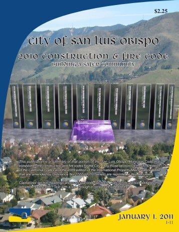 Construction Codes - the City of San Luis Obispo