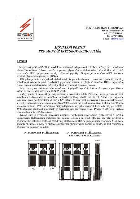 montážní postup pro montáž integrovaného pilíře - DCK Holoubkov ...