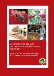 Bericht des Beirates für Berufs - Deutscher Imkerbund e.V.