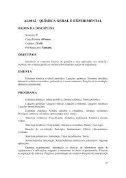 AL0012 - QUÍMICA GERAL E EXPERIMENTAL - UNIPAMPA Cursos
