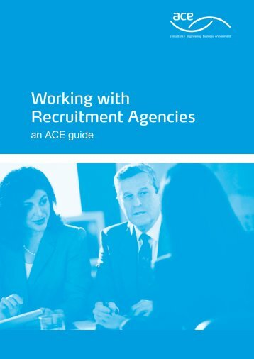 Working with Recruitment Agencies - Association for Consultancy ...