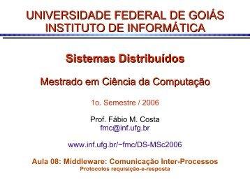 1 - Instituto de Informática - UFG