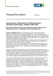 Pressemitteilung George Grosz - Max Ernst Museum