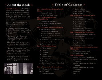Table of Contents § About the Book § - Stephen Hicks, Ph.D.