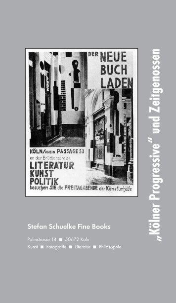 """""""Kölner Progressive"""" und Zeitgenossen - Fine Books"""