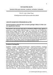 1 PSYCHIATRIE HEUTE Prof. Dr. med. Volker Faust ...